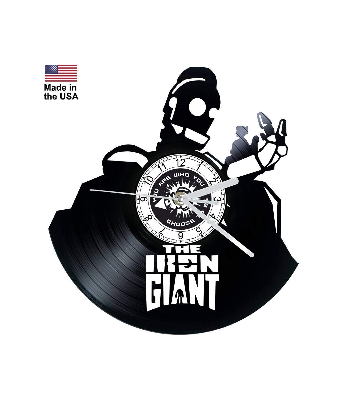 Vinyl Clock, Iron Giant, Christmas gift, Wall clock, vinyl record clock