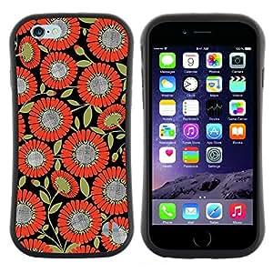 "Pulsar iFace Series Tpu silicona Carcasa Funda Case para Apple (4.7 inches!!!) iPhone 6 Plus / 6S Plus ( 5.5 ) , Patrón de la tela naranja Negro"""