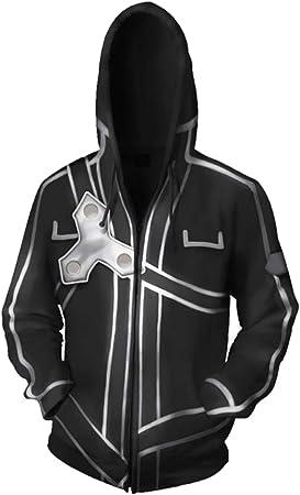 RedJade Sudadera con Capucha Imprimir con Capucha Tops Chaqueta Camisa de Jersey Chaqueta de Sudor Desgastar Camisa de Jersey Saltador Negro Sao Espada Art Online: Amazon.es: Juguetes y juegos