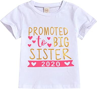 Big Sister on Infant /& Toddler Cotton T-Shirt in 21 Colors