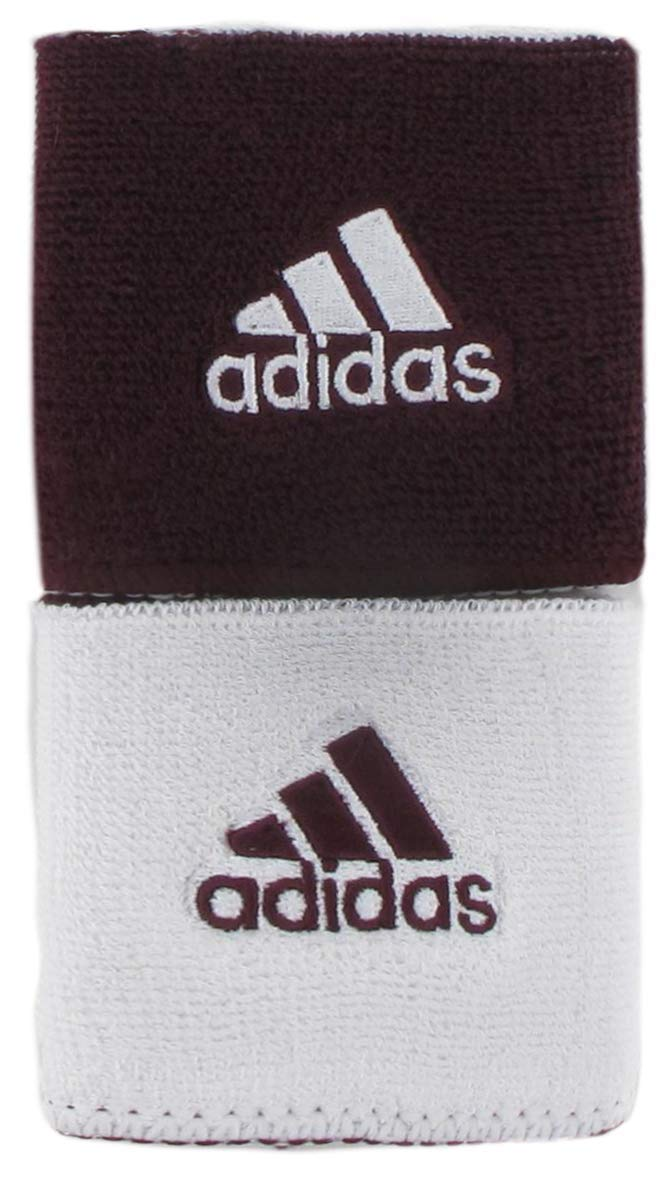 adidas Unisex Interval Reversible Wristband, Team Maroon/White White/Team Maroon, ONE SIZE by adidas