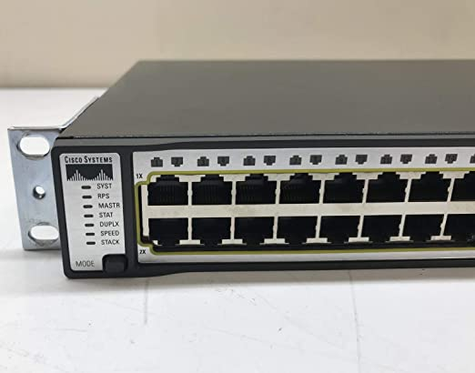 2 Cisco WS-C3750G-48TS-S 48 Gigabit Ports Layer 3 Switch 3750G-48TS-E ios 15.0