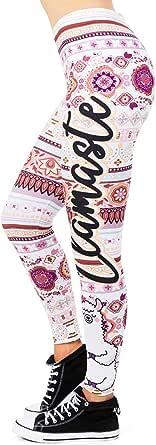 Kanora Yoga Seamless Leggings for Women - Cute Alpaca Yoga Running Leggings, Slim Running Tights for Women Girls