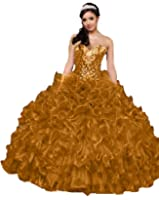 Diandiai Women's Sweetheart Quinceanera Dresses Crystal Ball Gown Prom dress