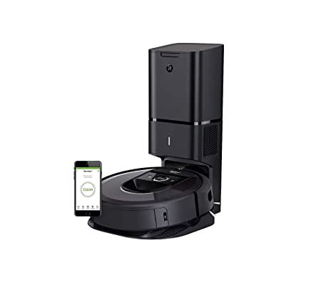 iRobot Roomba i7 7550 Robot Vacuum with Automatic Dirt Disposal- Wi-Fi Connected, Smart Mapping, Works with Alexa, Ideal for Pet Hair, Carpets, Hard Floors