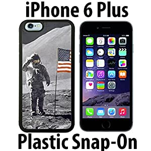 NASA Moon Landing Custom made Case/Cover/skin FOR iPhone 6 PLUS -Black- Plastic Snap On Case ( Ship From CA)