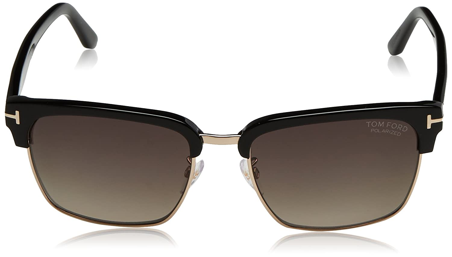 189418045d0f Amazon.com  Tom Ford TF367 01D Black River Retro Sunglasses Polarised Lens  Category 3 Size  Tom Ford  Clothing