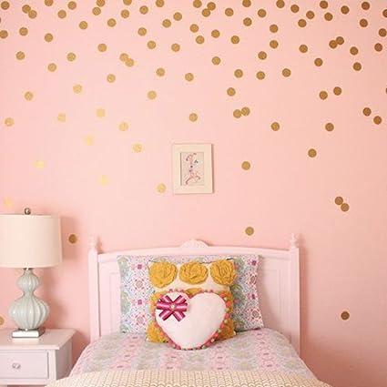 Amazon Com Pricuitie Decorative Gold Dot Wall Stickers Metallic