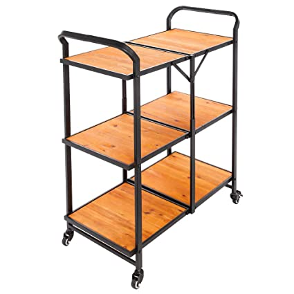3 tier bar cart party bar tier kitchen trolleyrolling cart bar portable utility rack storage with amazoncom trolley rolling