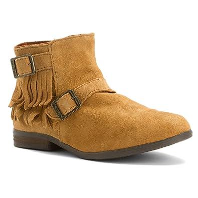 ladies shoes minnetonka rancho bootbrown suede