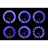 BicycleStore Waterproof Bike Cycling Bicycle Wheel Tyre Tire Valve Cap Light Lamp Led Flash 15 Changes 2-Pack Bundle for 2 Tires