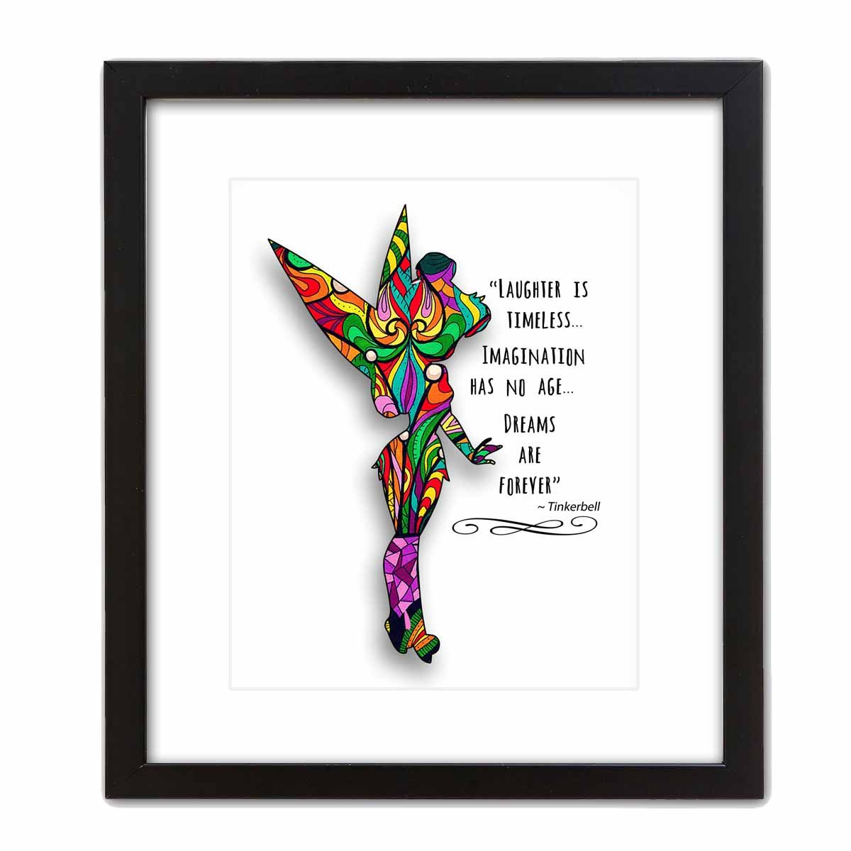 ArtDash Studio Custom Decorative Art Print 8/×10 print DREAMS ARE FOREVER ~ The Perfect Gift for that Special Person or Child who Loves Tinkerbell...