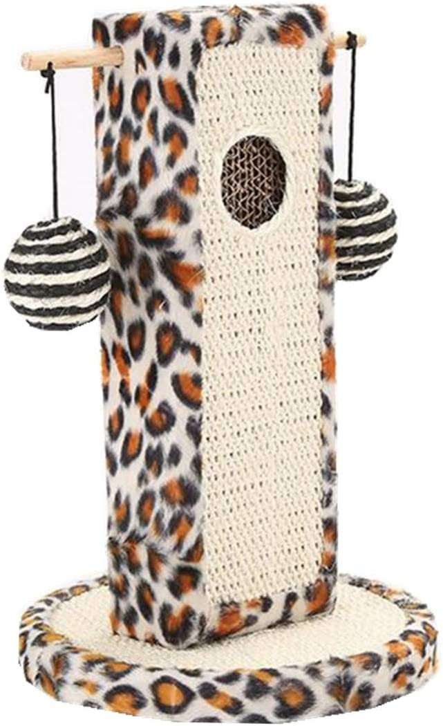 Leopard Print Cat Tree with Dangling Ball//Mouse Cute Cat Scratch Post Cats Kittens Cat Scratching Post Paper Scratch Pole Cat Scratcher Cat Interactive Toys