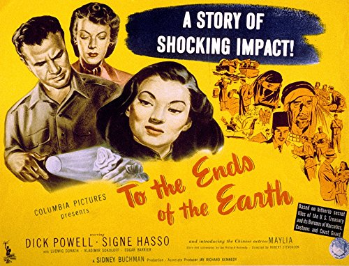 Posterazzi To The Ends of The Earth Dick Powell Signe Hasso Maylia 1948 Movie Masterprint Poster Print (14 x 11) (To The Ends Of The Earth 1948)