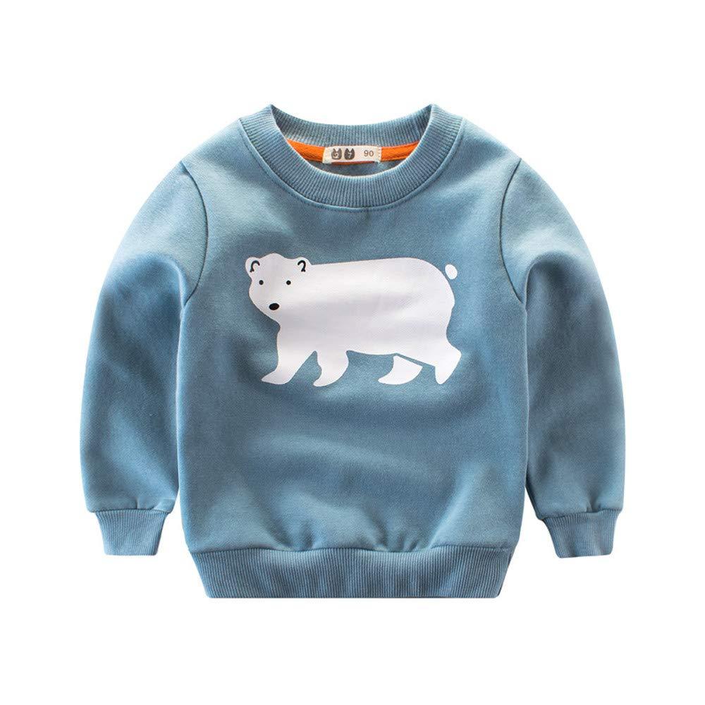 FeiliandaJJ Kids Toddler Baby Cute Fashion Cartoon Animals Warm Long Sleeve Tops Tee Blouse for 1-6 Years Old Undershirt