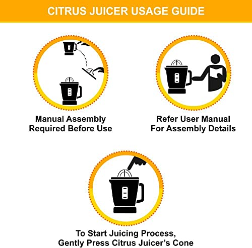 Cuisinart CCJ-500 Pulp Control Citrus Juicer, Brushed Stainless, Black Stainless, 1 Piece