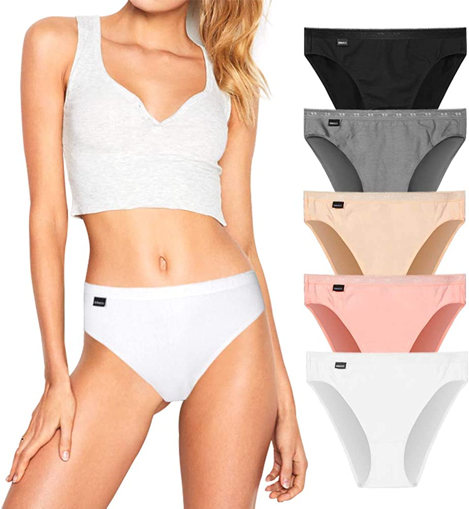 5Mayi Womens Underwear Hipster Panties for Women Cotton Women Bikini Panties Underwear for Women Pack S M L XL XXL