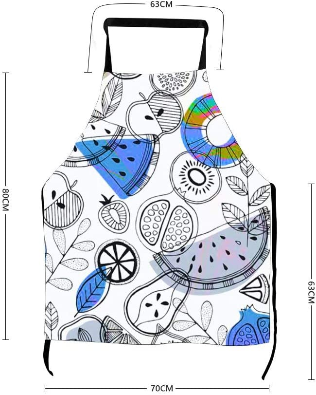 Delantal de cocina con diseño de libro para colorear sin