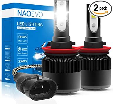 H11 H9 H8 LED Headlight Kit Plug/&Play Turbo Cooling Fan CREE 60W 12000LM 6000K