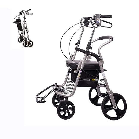 Amazon.com: Silla de ruedas plegable para abuela, abuelo ...