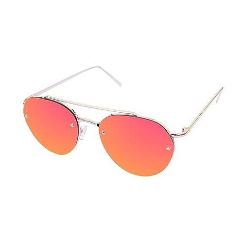 LooKLooK® Gafas de Sol de Moda Estilo Aviador Unisex - Diseño Elegante Montura Metálica y Lentes Ant...