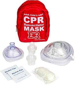 Ever Ready First Aid Adult and Infant CPR Mask Combo Kit