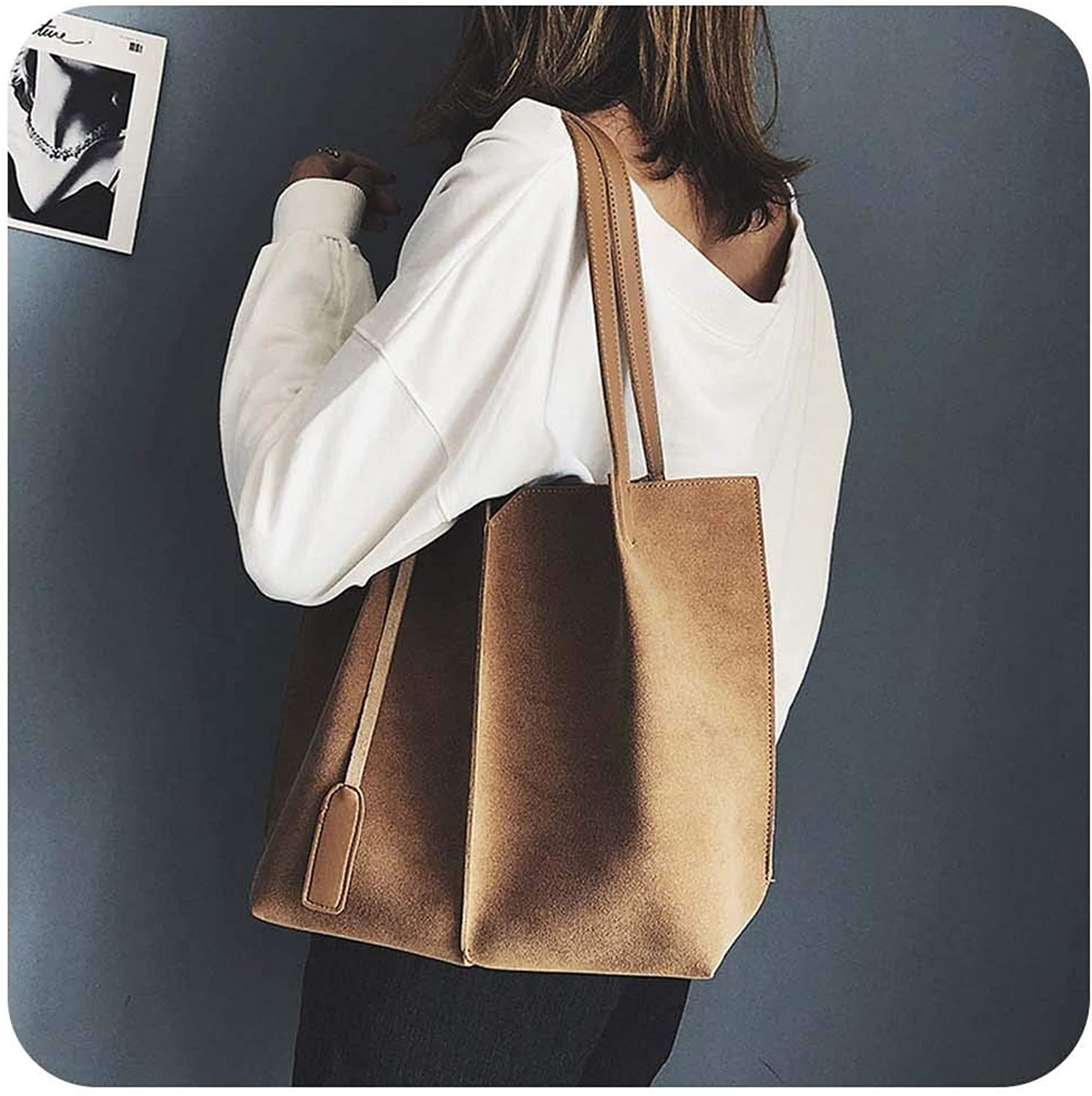 Women Suede Handbags Soft...
