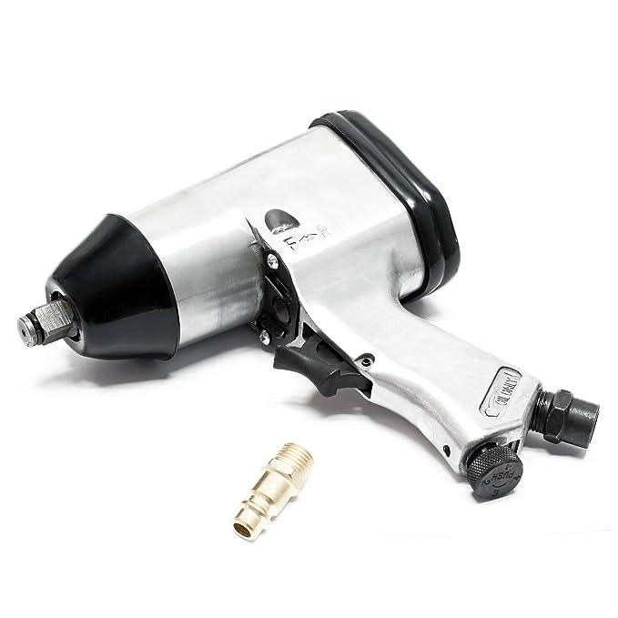 Set aire comprimido Cambio neumáticos Pistola Manómetro Llave impacto Manguera 10m Casquillos Taller: Amazon.es: Bricolaje y herramientas