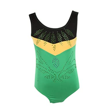 a440b81c2 ESHOO Toddler Girls Sleeveless Dance Gymnastics Leotards  Amazon.co ...