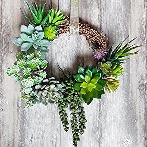 Supla Pack of 14 Assorted Artificial Succulents Picks Textured Aloe Faux Succulent Pick Succulent Stems Fake Succulent Bouquet String of Pearls Succulent Faux Succulent Floral Arrangement Accent 5