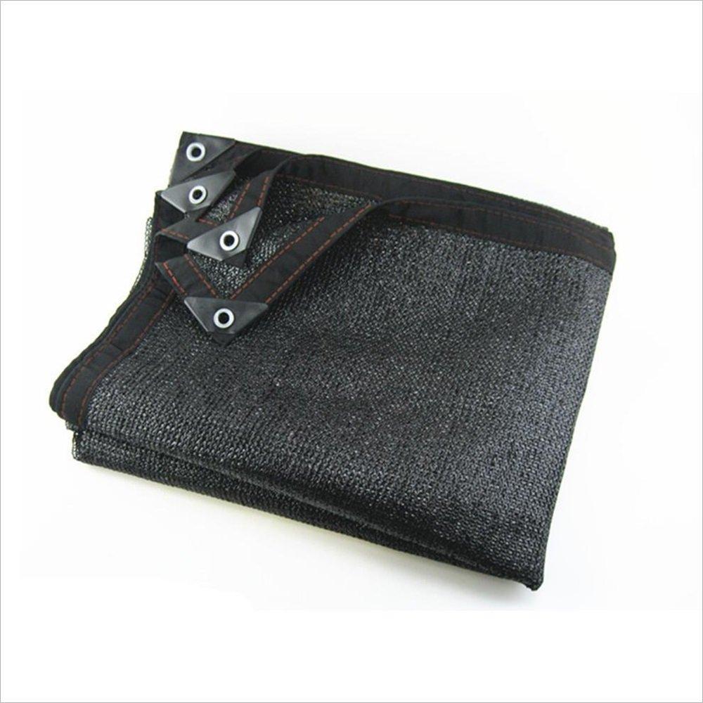 Sol malla 8-Pin 95% Shade Rate Rate Rate Sun Net Sunscreen Net (Color : Negro, Tamaño : 2X2m) f95d32