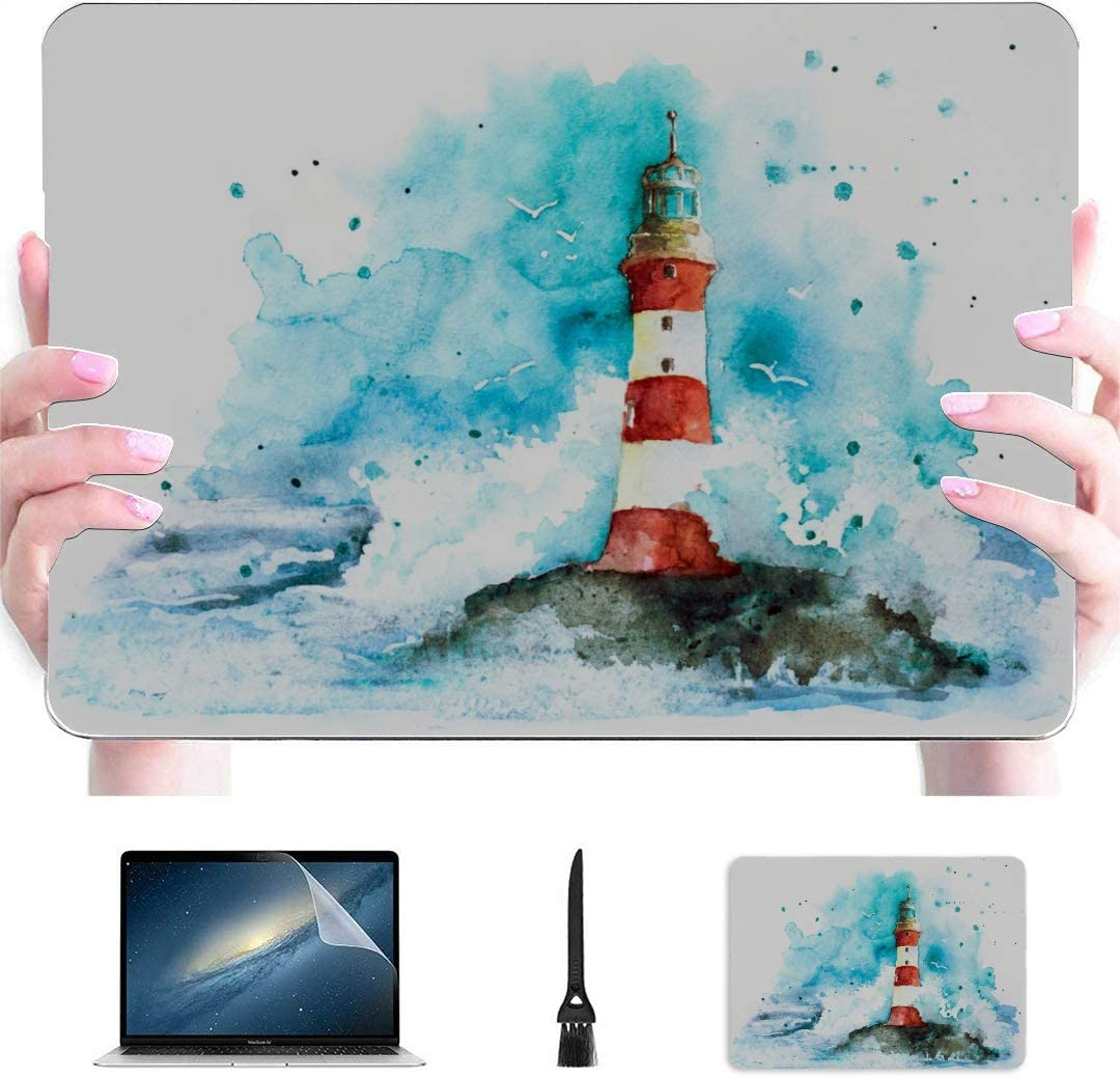 """MacBook Pro Covers Lighthouse Under The Starry Night Plastic Hard Shell Compatible Mac Air 13"""" Pro 13""""/16"""" MacBook Air Case Protective Cover for MacBook 2016-2020 Version"""