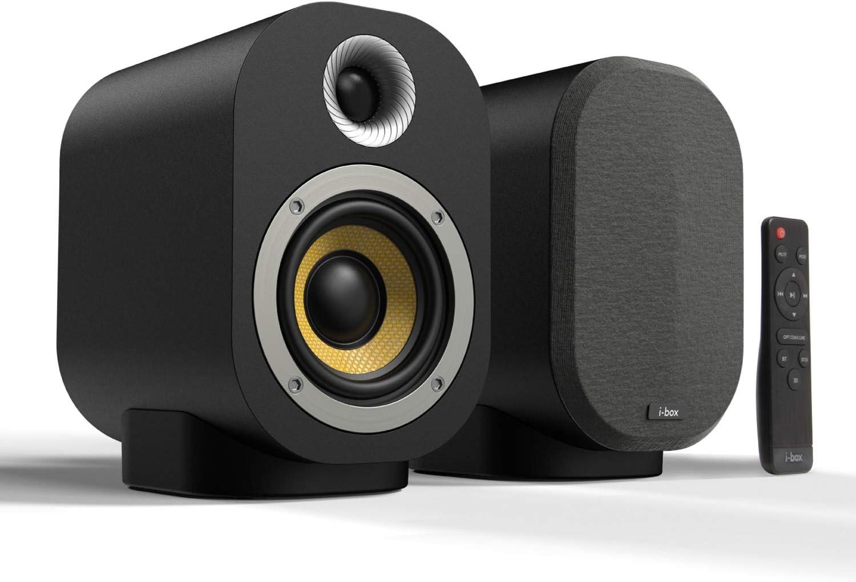 Monitores de Estudio Altavoces Autoamplificados Activo 40W TV Altavoces Amplificados HiFi RCA para Tocadiscos PC DJ con Mando a Distancia Ordenador Sobremesa Pasivo 20W con Bluetooth