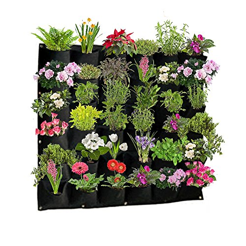 Vertical hanging planters are great for small spaces