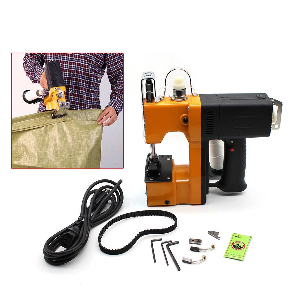 Portable Sewing Machine,Industrial Electric Bag Stitching Closer Seal Sewing Machine for Packaging Chemical Building (220V+5x Needle) by GADE10