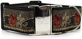 "product image for Diva-Dog 'Dakota Rose' 2"" Extra Wide Custom Engraved Dog Collar"