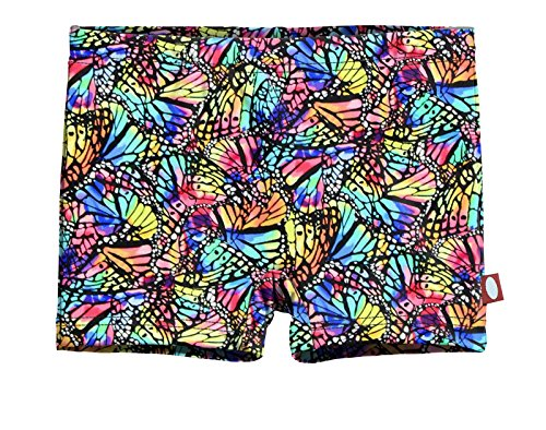 City Threads Girls' Swimming Suit Bottom Boy Short UPF50+ Sun Protection for Beach Pool Summer Fun, Butterfly Wings, 14