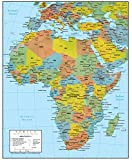 Africa Wall Map GeoPolitical Edition by Swiftmaps (18x22 Laminated)