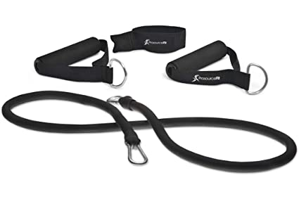 Set of 5 ProSource Premium Latex Resistance Exercise Bands Tubes Cords w// Door A