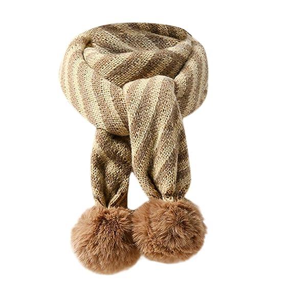 ... el Cuello para Unisex Bebé Recién Nacido de Bola de Pelo Tejido Rayas  Cachemira Suave Anillo Babero para Chicas Chicos  Amazon.es  Ropa y  accesorios a2740b3c2f1