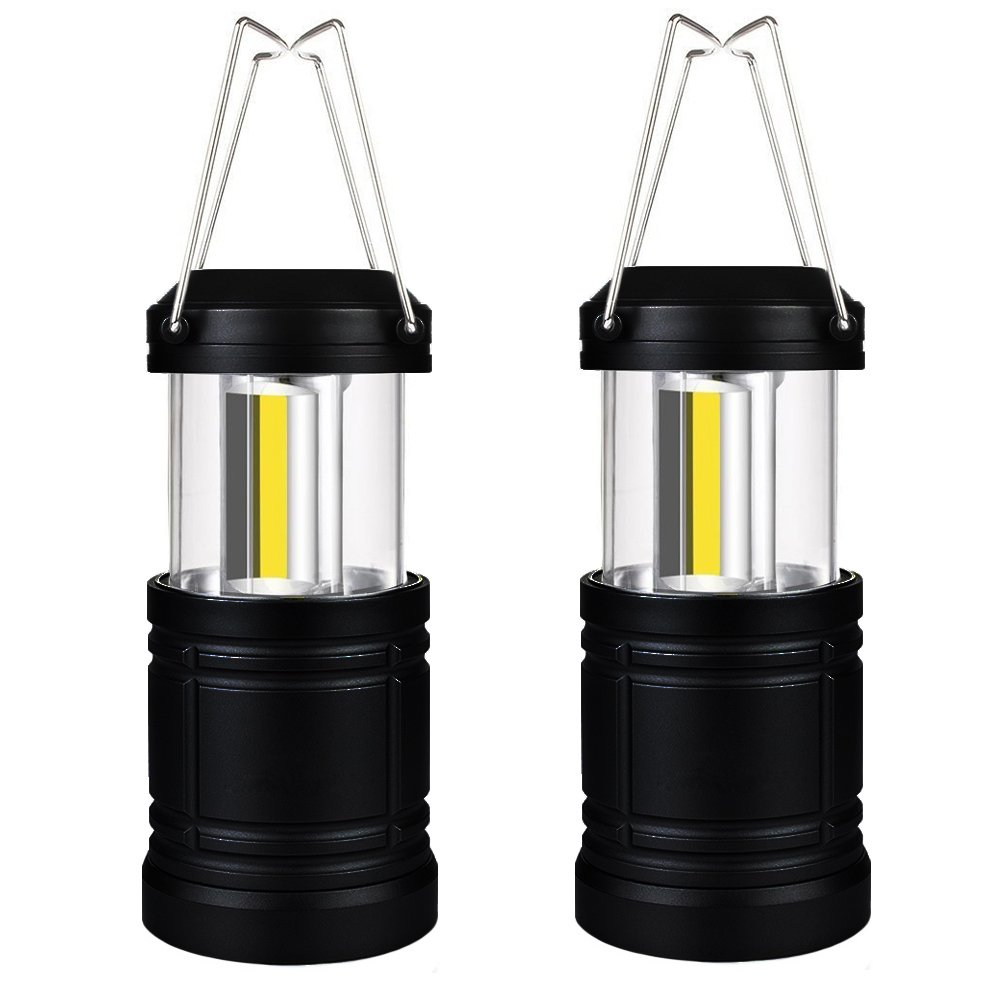 Uninex (2 Pack) Black Collapsible Led Lantern Ultra Bright COB LED Magnetic Base by Uninex
