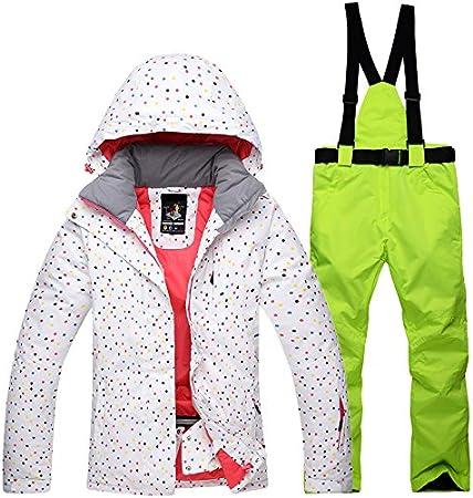 Pants Imposta Abbigliamento da Sci Pattinaggio Zantec Tuta da Sci Tuta da Sci allaperto Donna Antivento Impermeabile Caldo Termico Snow Snowboard Jacket