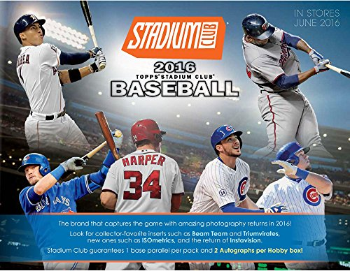 2016 Topps Stadium Club Baseball Hobby Edition Factory Sealed 24 Pack Box - Fanatics Authentic Certified by Sports...