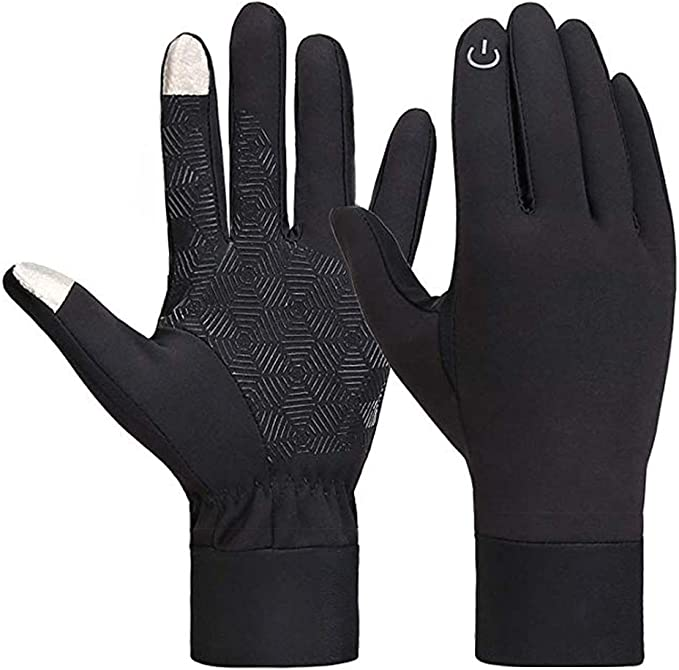 Lantch Unisex Gloves Touch Screen Mittens Thermal Sports Breathable Anti-slip Cycling Gloves Windproof Waterproof Mittens for Cycling Running Driving Working Skiing Fishing