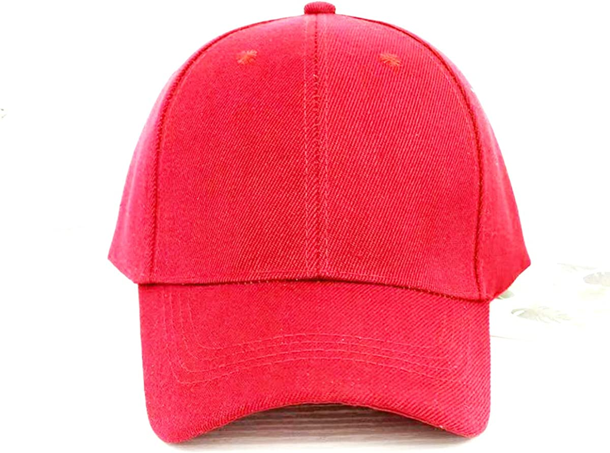 Huuflyty Boys Baseball Hat Kids Cotton Caps Adjustable Size Baseball Cap for Running Workouts and Outdoor Activities