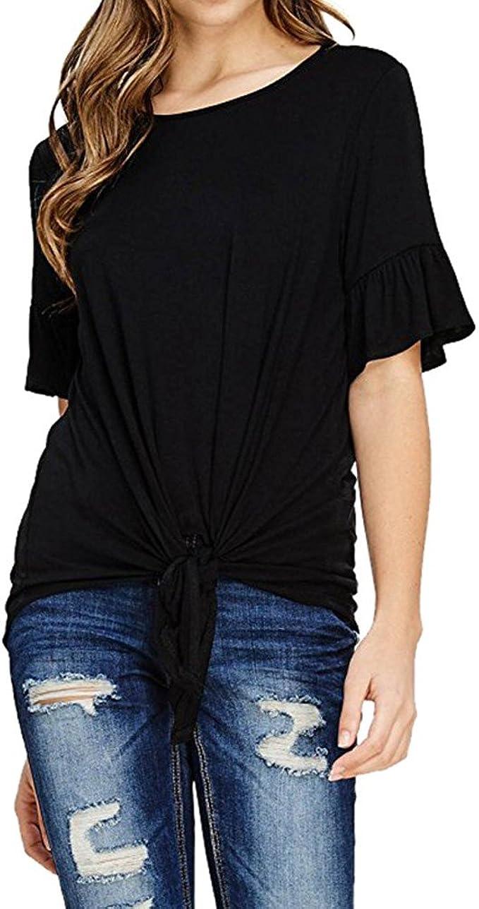 Tosonse Femme Top Blouse T-Shirt Cou Rond Manche Courte Shirt Vintage Mode Haut Imprim/é Chemise Tee /Ét/é