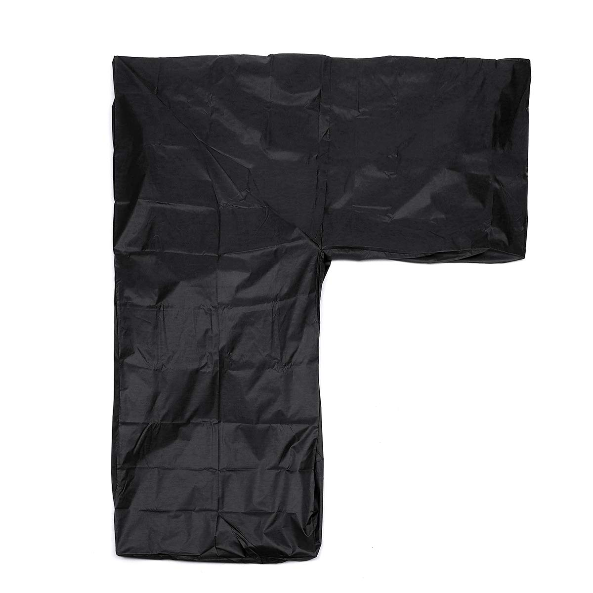 61'' X 37'' X 26'' Sofa Cover Black Polyester L Shape Waterproof Dustproof  Outdoor Patio Garden Furniture Protection Protective Cloth Covering