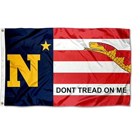 College Flags and Banners Co  US Navy Midshipmen Dont Tread on Me Flag