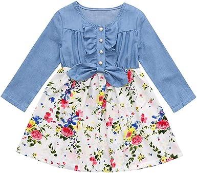 Kimanli Toddler Kids Coat,Girls Faux Fur Winter Hooded Coat Waistcoat Thick Tops