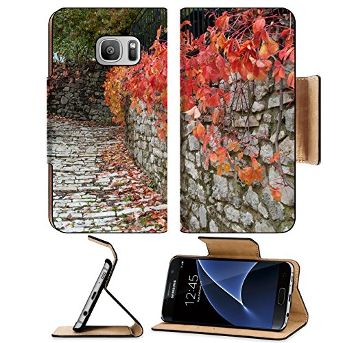 luxlady-premium-samsung-galaxy-s7-flip-pu-leather-wallet-case-image-id-25994490-road-with-red-leaves